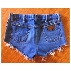 Wrangler Vintage Denim Cutoff Shorts